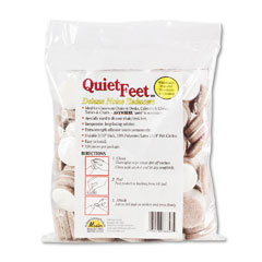 Master caster - quiet feet self-adhesive noise reducers, 1-1/4 dia. felt pads, beige, 100/pack, sold as 1 pk