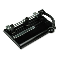 Master Products 1340PB 40-Sheet Lever Action Two- To Seven-Hole Punch, 13/32 Diameter Holes, Black