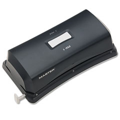 Master - 15-sheet duo electric/battery punch, two- and three-hole fixed position sides, sold as 1 ea