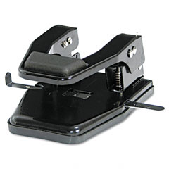 Master Products MP250 40-Sheet Heavy-Duty Two-Hole Punch, 9/32 Diameter Hole, Padded Handle, Black