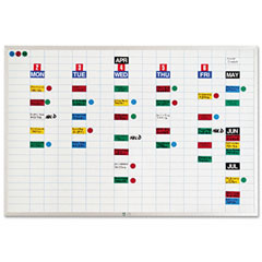Magna Visual EBK-2436 Lustreboard Planning Kit, Porcelain-On-Steel, 36X24, White/Aluminum