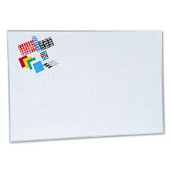 Magna Visual EBK-4872 Lustreboard Planning Kit, Porcelain-On-Steel, 72 X 48, White/Aluminum