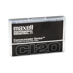 Maxell 102011 Dictation & Audio Cassette, Normal Bias, 120 Minutes (60 X 2)