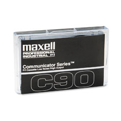 Maxell 102211 Standard Dictation Audio Cassette, Normal Bias, 90 Minutes (45 X 2)