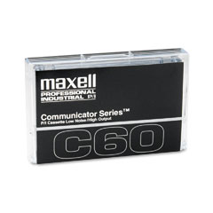 Maxell 102411 Standard Dictation/Audio Cassette, Normal Bias, 60 Min. (30 X 2)
