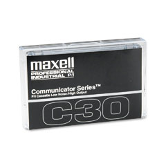 Maxell 102811 Standard Dictation/Audio Cassette, Normal Bias, 30 Min (15 X 2)