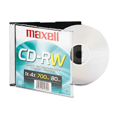 Maxell - cd-rw, branded surface, 650mb/74min, 4x, sold as 1 ea