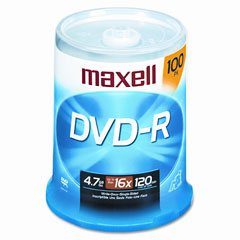 Maxell - dvd-r discs, 4.7gb, 16x, spindle, gold, 100/pack, sold as 1 pk