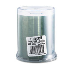 Maxell - cd-r discs, 700mb/80 min, 48x, spindle, printable matte white, 100/pack, sold as 1 pk