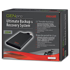 Maxell GENpro Portable Hard Drive, 250GB, USB, 5400 rpm