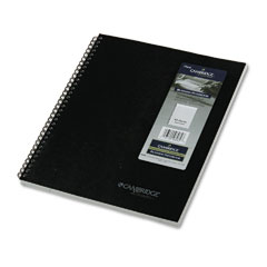 Mead 06062 Cambridge 1-Subject Wirebound Business Notebook, Lgl Rule, Ltr, We, 80 Pages