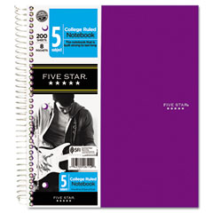 Mead 06112 Trend Wirebound Notebooks, College Rule 8 1/2 X 11, 5 Subject 200 Sheets