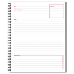 Mead 06132 Meeting Notebook, 11 X 8 1/2, 80 Ruled Sheets