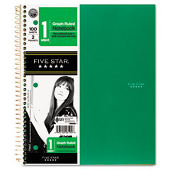 Mead 06190 Wirebound Notebooks, Quad, 1 Subject, White, 8 1/2 X 11, 100 Sheets, Assorted