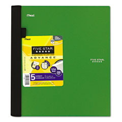 MEAD PRODUCTS Five Star Advance Wirebound Notebook, College Rule, Letter, 5 Subject 200 Sheets/Pad