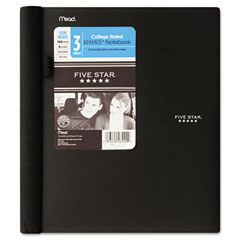 MEAD PRODUCTS Five Star Advance Wirebound Notebook, College Rule, Letter, 3 Subject 150 Sheets/Pad