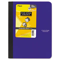 Mead - composition book, college rule, 9-3/4 x 7-1/2, 1 subject 100 sheets, assorted, sold as 1 ea