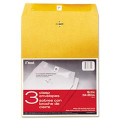 Mead - clasp envelope, 10 x 13, 24lb, kraft, 3/pack, sold as 1 pk