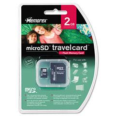 Memorex MEM01270 MicroSD Travel Card, 2GB