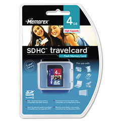 Memorex 07580 Secure Digital Travel Card, 4Gb