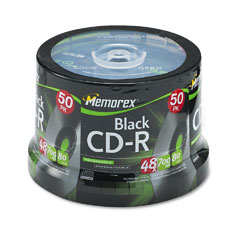 Memorex 04751 Cd-R Discs, 700Mb/80Min, 48X, Spindle, Black, 50/Pack