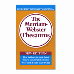 Merriam webster - paperback thesaurus, dictionary companion, paperback, 800 pages, sold as 1 ea