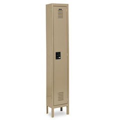 Metal METCQA5051TN Single-Tier Locker, 12w x 18d x 78h, Tan