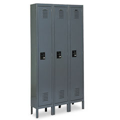 Metal METCQA5053GY Single-Tier Locker, 36w x 18d x 78h, Gray