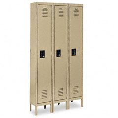 Metal METCQA5053TN Single-Tier Locker, 36w x 18d x 78h, Tan