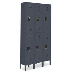 Metal CQA5093GY Double-Tier Locker, 36W X 18D X 78H, Gray