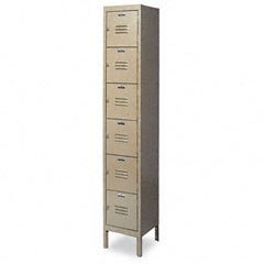 Metal METCQA5141TN Six-Tier Box Lockers, 12w x 18d x 78h, Tan