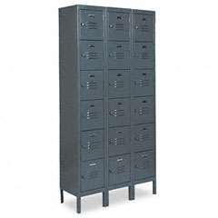 Metal METCQA5143GY Six-Tier Box Lockers, 36w x 18d x 78h, Gray