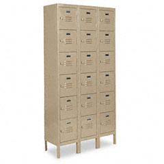 Metal METCQA5143TN Six-Tier Box Lockers, 36w x 18d x 78h, Tan