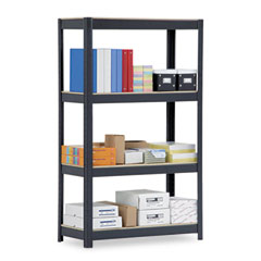 Metal VR400BLK Commercial Shelving, 4 Shelves, 36W X 16D X 60H, Black