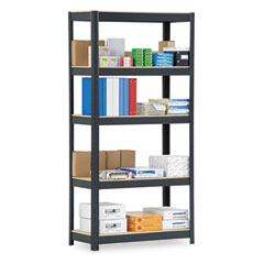 Metal VR500BLK Commercial Shelving, 5 Shelves, 36W X 16D X 72H, Black