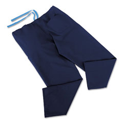 Medline MII900JNTLCM ComfortEase Scrub Pants, Washable, Poly/Cotton, Large, Sky Blue, 24/Carton