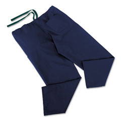 Medline MII900JNTMCM ComfortEase Scrub Pants, Washable, Poly/Cotton, Med, Midnight Blue, 24/Carton