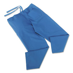 Medline MII900JTHLCM ComfortEase Scrub Pants, Washable, Poly/Cotton, Large, Midnight Blue, 24/Carton