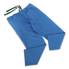 Medline MII900JTHMCM ComfortEase Scrub Pants, Washable, Poly/Cotton, Med, Sky Blue, 24/Carton