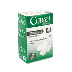 Curad - sterile cotton balls, 1-inch, 130/box, sold as 1 bx