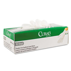 Medline CUR8235 3G Synthetic Vinyl Powder-Free Exam Gloves, Medium, 100/Box