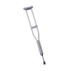 MEDLINE INDUSTRIES, INC. Medline Push-Button Aluminum Crutches, Adult Tall, 5' 10 to 6' 6, 1 Pair