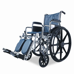 Medline MDS806150EE Excel K1 Basic Wheelchair, 18 X 16, 250 Lbs.