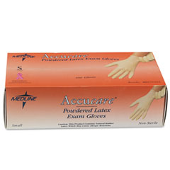Medline MG1204 Mediguard Powdered Latex Exam Gloves, Small, 100/Box
