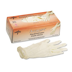 Medline MG1206 Mediguard Powdered Latex Exam Gloves, Large, 100/Box