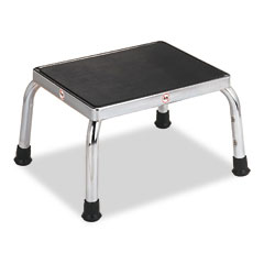 Medline MPH08250 Economical Foot Stool, Rubber Tipped Feet, Stainless Steel