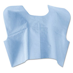 Medline - disposable patient capes, 3-ply t/p/t, blue 100/carton, sold as 1 ct