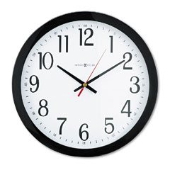 Howard Miller Clock 625-166 Gallery Wall Clock, 16In, Black
