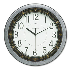 Howard Miller Clock 625-168 Showtime Wall Clock, 13In, Charcoal, 1 Aa Battery