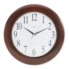 Howard Miller Clock MIL625214 Corporate Wall Clock, 12-3/4in, Cherry